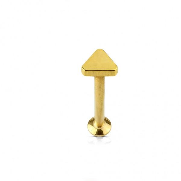 Labret Stud Cartilage Chirurgenstahl in gold, schwarz, roségold, stahl-silber
