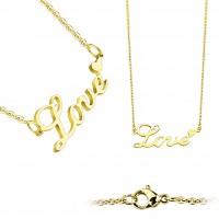 Coolbodyart Damen Edelstahl Halskette gold und roségold