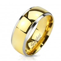 "Coolbodyart Unisex Titan Ring silber gold ""Titan Center"" II"