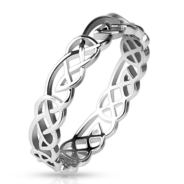 Damenring Fingerring Unisex Messing rhodiniert silber Tribal Knoten