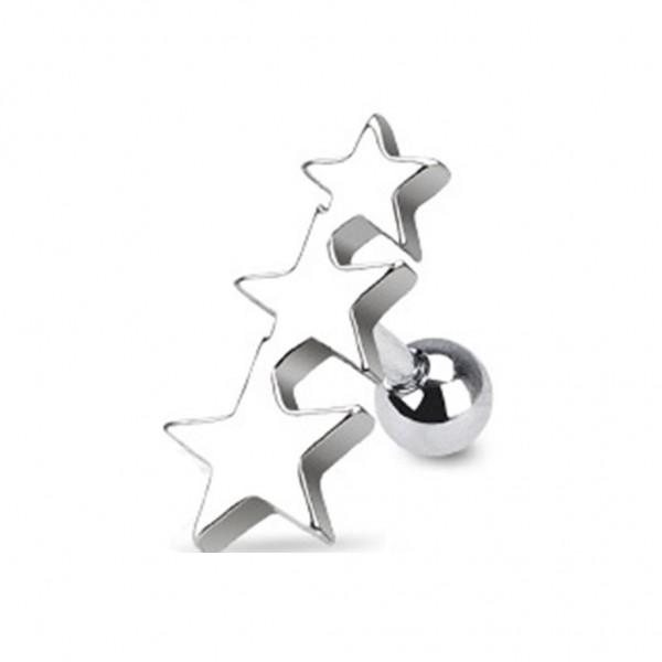 "Coolbodyart Unisex Tragus Cartilage Sterne ""Three Stars"""