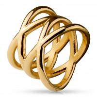 Fingerring Freundschaftsring, Verlobungsring, Statementring Double X roségold