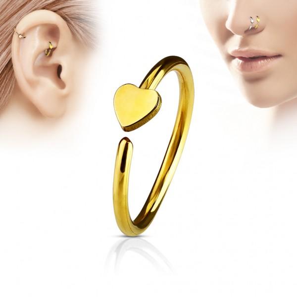 Ring für Nase oder Ohr Cartilage Chirurgenstahl 316L, in 5 Farben