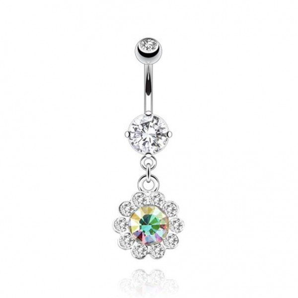 "Bauchnabelpiercing ""Multi Flower"" Petals Navel Ring NEW - PIERCINGS von COOLBODY"