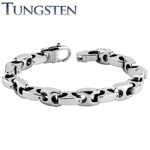 Armband silber Tungsten Wolfram Anker Länge in mm: 220