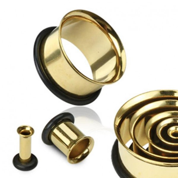 Single Flare Tunnel Plug Taper gold 2-25mm Ohr