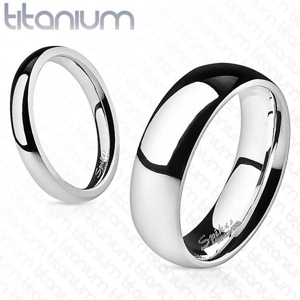 Titan Solid Titanium Unisex Ring silber 4mm breit Classic Line