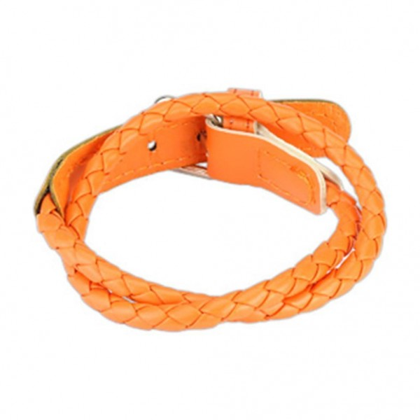 "1 Lederarmband orange 190-205mm ""Buckle End Design"" NEW -- SCHMUCK von COOLBODY"