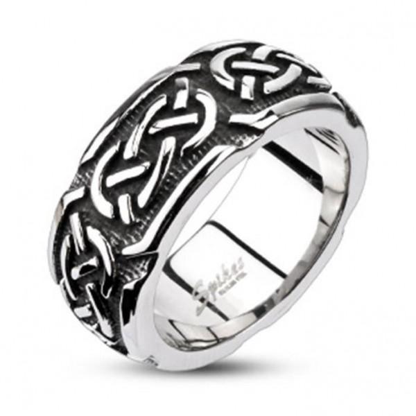 """Herren Damen Ring Fingerring """"Celtic Line"""" 6 Größen Edelstahl"""