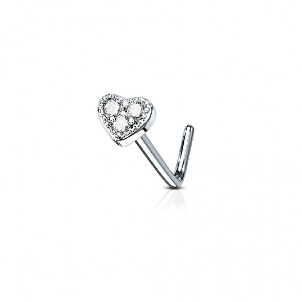 Uhren & Schmuck Tapsi´s Coolbodyart® Nasenpiercing L Stecker Gebogen Chirurgenstahl 316L Silber