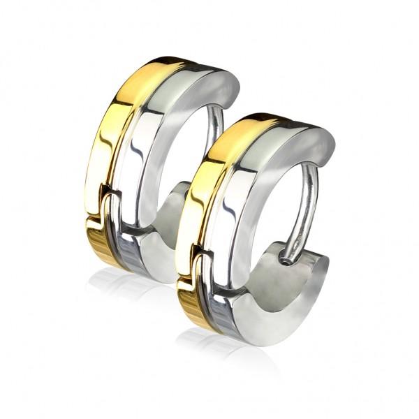 Coolbodyart Unisex 1 Paar Kreolen vergoldet