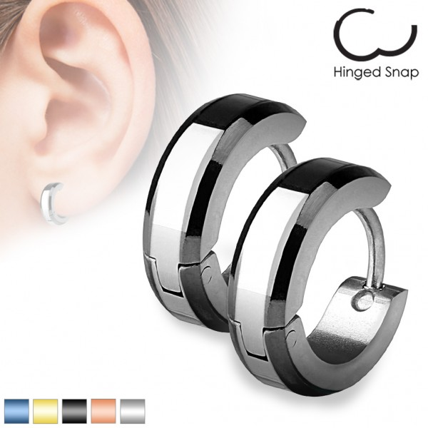 Tapsi´s Coolbodyart® Ohrring Edelstahl silber mit abgesetzten Farben nach Wahl