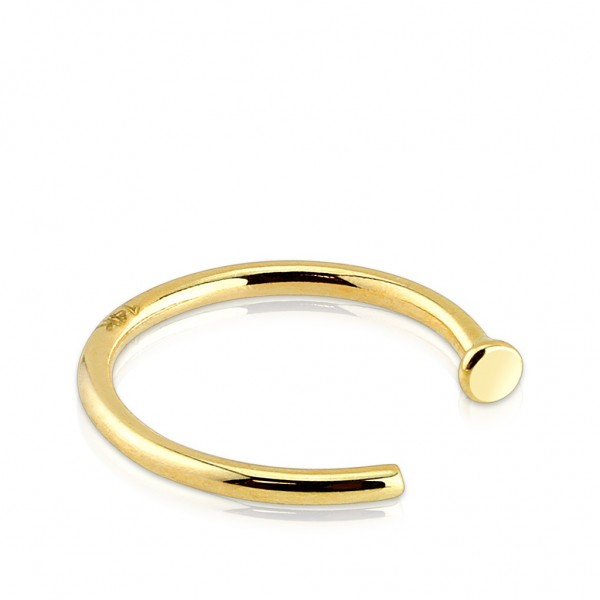 Tapsi´s Coolbodyart®| Nasenpiercing Hoop Ring 14 Karat Gold 8mm - 10mm