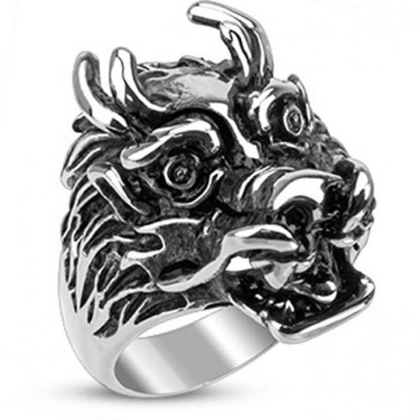"""Herren Damen Ring """"Wild Dragon"""" Edelstahl nur noch 2 Größen verfügbar!!!"""