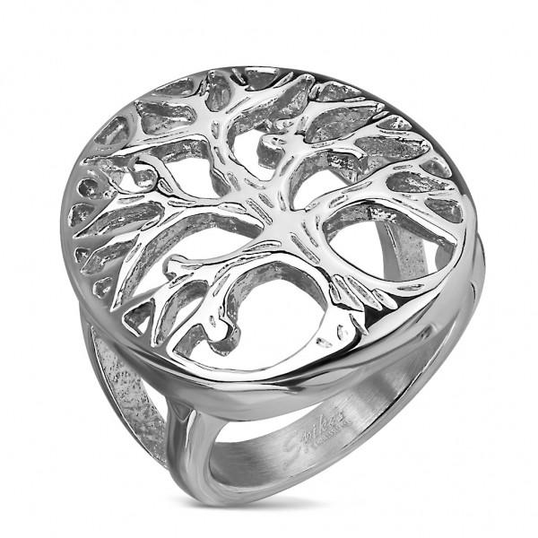 Tapsi´s Coolbodyart®| Fingerring Domering Edelstahl Silber Lebensbaum Kuppel Größe 47(15) - 61(19,5)