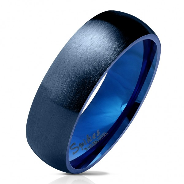 Domering aus Edelstahl in blau matt und poliert verschiedene Größen