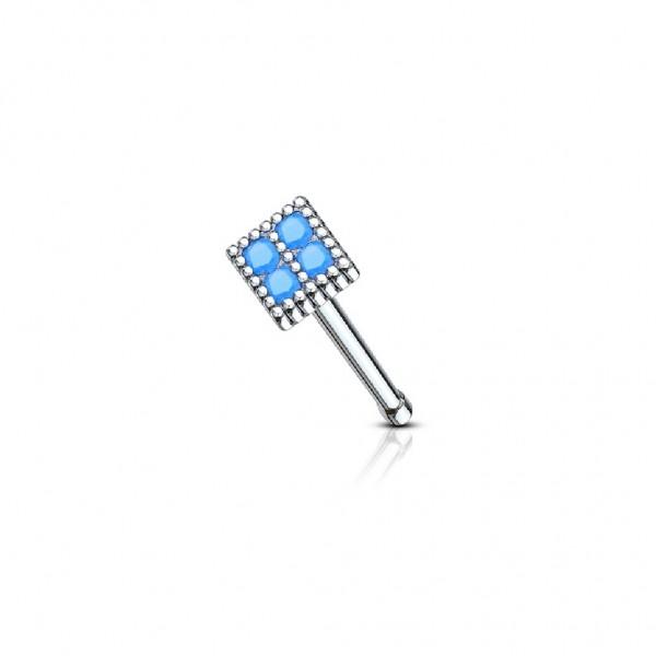 Tapsi´s Coolbodyart®| Nasenpiercing Nose Stud gerade Chirurgenstahl 316L Silber 6mm Würfel Quadrat K