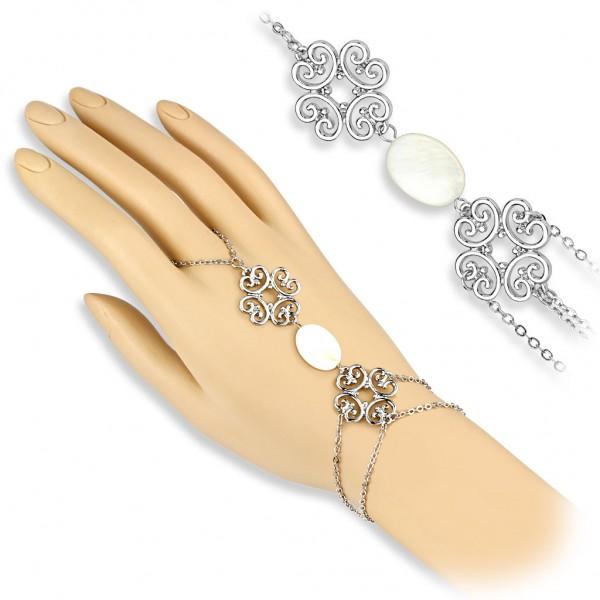 Coolbodyart Damen Armband Sklavenarmband Vintage Style mit Tribal Herz und Pe...