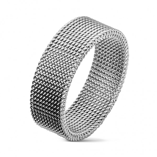 Herren Damen Ring silber flexibel 9 Größen Edelstahl