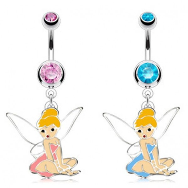 "Bauchnabel Piercing ""Fairy Dangle"" Exklusiv 2 Farben"