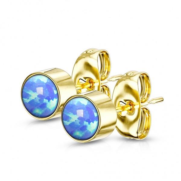 Tapsi´s Coolbodyart® Ohrstecker aus Edelstahl mit synth. Opal in verschiedenen Größen und Farben