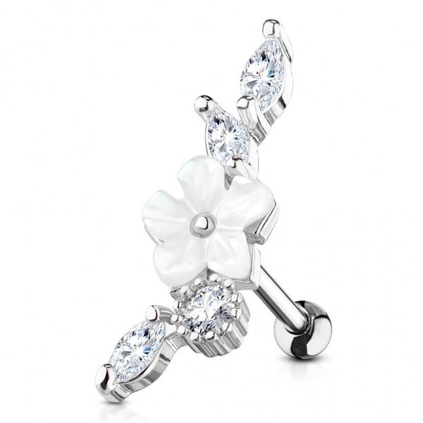 Tapsi´s Coolbodyart®  Ohr Cartilage Tragus Barbell Edelstahl Chirurgenstahl 316L Gold,Roségold,Silbe