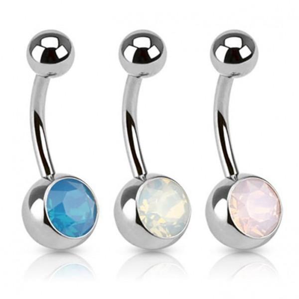 Bauchnabelpiercing Opalstein 3 Farben oder Set