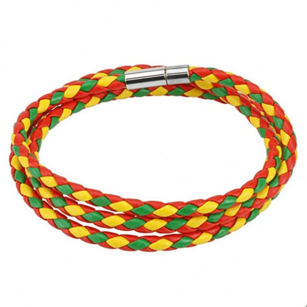 Rot Grün Gelb geflochtenes Armband 609mm 12mm breit