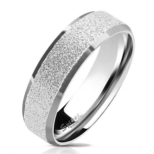 Ring Fingerring Edelstahl sandgestrahlt silber Größe 5/6/7/8/9/10/11/12/13