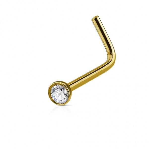 Nasenstecker Edelstahl-Chirurgenstahl 316L, gold,schwarz,roségold mit Kristall