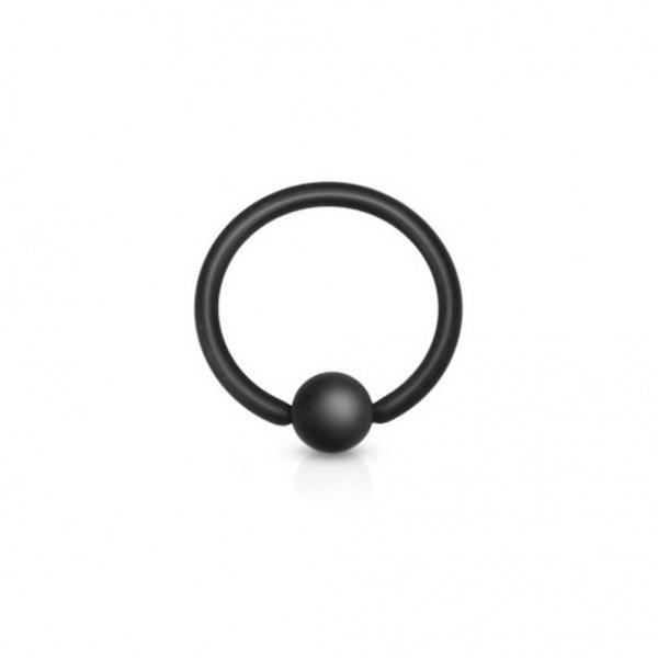 Coolbodyart Chirurgenstahl matt schwarz Augenbrauen Lippen Brustpiercing Ring